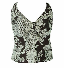 AERIN ROSE Women's Coffee Underwire Tankini Swimwear Top 72710 Size 36D/DD NWT