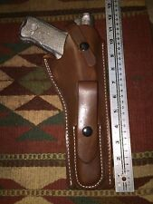 "Ruger Mk III IV Leather Holster with Magazine Pouch for 6 7/8"" Barrel Mark Brown"