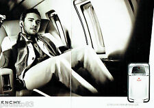 PUBLICITE ADVERTISING 016  2008  Givenchy parfum Play  (2p) Justin Timberlake