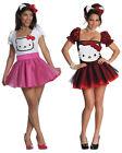 Hello Kitty Damen Kostüm Fasching Karnevalskostüm Kleid XS S M L Karneval neu
