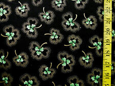 CLOVER SHAMROCKS W/GLITTER ST PATRICKS' DAY 100% COTTON FABRIC  24X43 INCHES