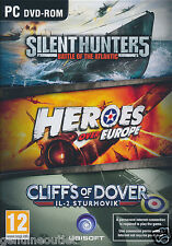 Silent Hunters 5 Heroes Over Europe and Cliffs of Dover War Games PC Sealed New