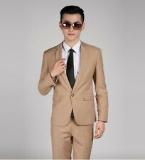 Vogue Formal Men Slim Fit Stylish Suit/Suits one-button set Jacket pants tie Hot