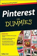 NEW Pinterest for Dummies by Carr, Kelby. Paperback