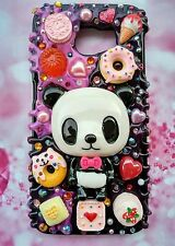 Cute iPhone case for ALL iPhone models with Panda sweet dessert decoden n blings