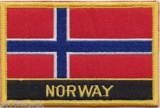 Norway Flag Embroidered Patch Badge - Sew or Iron on