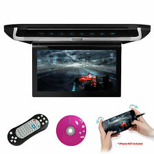 "HDMI 10"" Car Overhead Video Roof MPV Flip Down Monitor DVD Player HDMI USB Game"