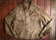 VTG 60s 70s LEE REVERSIBLE BUCKSKIN SUEDE LEATHER WESTERN JACKET TRUCKER USA 40