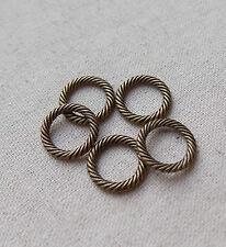 20 Bronze tone Decorative Closed Jump Rings13mm