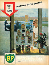 PUBLICITE ADVERTISING 124  1960  BP  station service huiles carburants