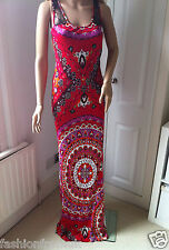 EMILIO PUCCI S/S 2012 RUNWAY RED VISCOSE SLEEVELESS MAXI DRESS 40