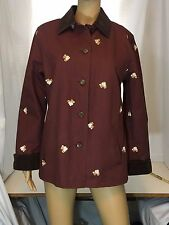 Dancing Dog Design Woman's Barn Coat Size Small