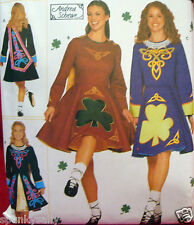 Simplicity 9654 IRISH DANCE DRESS COSTUMES Miss size 14-20 Sewing Pattern