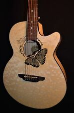 Luna Fauna Butterfly Quilted Maple Acoustic Electric Guitar - Free Shipping!
