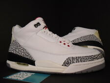 2003 Nike Air Jordan III 3 Retro WHITE CEMENT GREY FIRE RED BLACK 136064-102 9