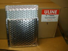 Uline S-7786SIL 7x6 3/4 Silver Glamour BUBBLE MAILER