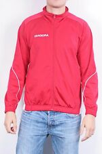Diadora Mens M Jacket Track Top Red Sport Sweatshirt Sport Running Athlete vtg