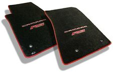 NEW! Ebony Floor Mats 2010-2015 Camaro Embroidered Logo RS in Red w/ red binding