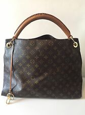 Authentic Louis Vuitton ARTISTICO mm Monogramma Tela & Borsa in pelle