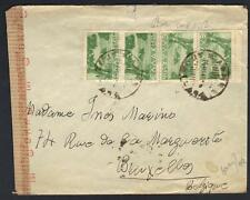 GREECE 1924-43 THREE COVERS INCLUDING IONIA CORFU BANK COVER CENSORED TO BELGIUM