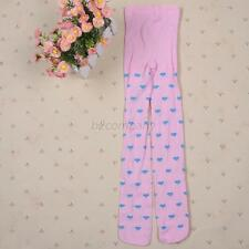 1x Baby Kid Girl Love Heart Pink Trousers Pantyhose Stocking Skinny Tights Socks