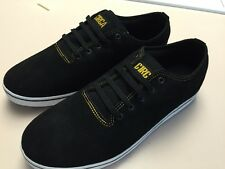 New CIRCA shoes Spade Black/yellow Skate Size 11.5