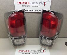 Toyota Tacoma 2017 TRD PRO Left & Right Rear Tail Lights (Pair) Genuine OEM OE