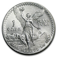 1982 1 oz Silver Mexican Libertad Coin - Brilliant Uncirculated - SKU #10201
