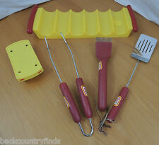 Oscar Meyer Hot Dog Stand BBQ Tools & Tray 6 Piece Wiener Set  #81214