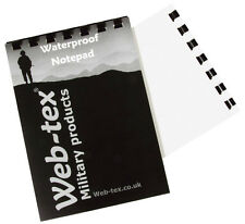WATERPROOF A6 NOTEBOOK army notepad 50 page plain writing book military note pad