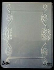 Sizzix Large 4.5x5.75in Embossing Folder FRAME ORNATE SCROLL fits Cuttlebug