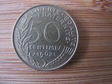 ancienne pièce de monnaie 50 centimes 1962 France