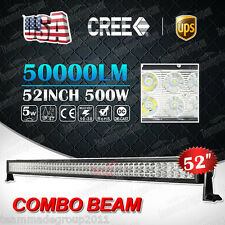 500W CREE 52INCH LED WORK LIGHT BAR COMBO SPOT&FLOOD DRIVING OFFROAD BAR 4WD