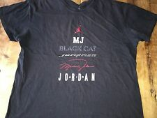 Nike Air Michael Jordan MJ Black Cat Shirt XL rare Authentic