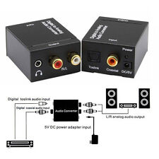 3.5mm Optical SPDIF Toslink Digital to Analog Audio Converter Adapter RCA Cable