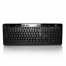 Sumvision Indigo USB Wired LED Backlit Multimedia Keyboard for Windows, PC