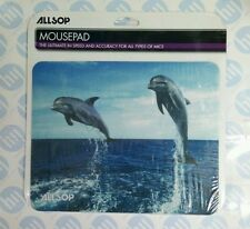 Allsop Computer Laptop Blue Mouse Pad Mat - Anti-Slip Grip - Dolphins Sea