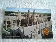 Vintage postcard,ALL SOULS' COLLEGE OXFORD