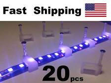 20 pack - LED Strip Light Fastner / Clip / Mounting part - - into wood or other