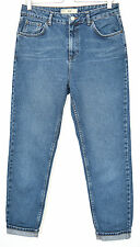 Topshop MOM High Waisted Vintage Stonewashed Blue Tapered Jeans Size 12 W30 L32