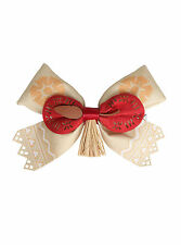 Disney Moana Island Red and Tan Bow Tie Hair Clip Pin Cosplay Costume Dress Up