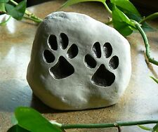 """Paw Prints, Pet Stones for Cats and Dogs. """"Miss You"""",  Memorial, Engraved Marker"""