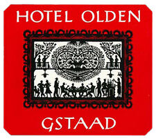 Hotel Olden GSTAAD Switzerland Kofferaufkleber luggage label