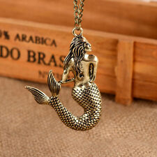 1x Style Vintage Mermaid Pendant Chain Necklace Sweater Chain Jewelry
