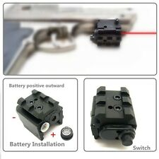 Tactical Visible Red Dot Laser Sight Scope Adjustable For 21mm Picatinny Rail