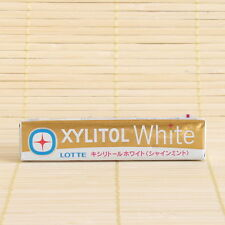 Japan Lotte XYLITOL GUM 1 pack WHITE SHINE Mint Japanese Chewing Candy