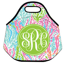 Personalized Lilly Pulitzer Monogram Lunch Bag For Women Insulated Neoprene Bag