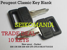 10 CLASSIC PEUGEOT 205 KEY BLANK clés CLEF LLAVE 309 405 MI16 GTI RENAULT 4 5