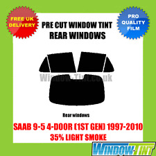 SAAB 9-5 4-DOOR (1ST GEN) 1997-2010 35% LIGHT REAR PRE CUT WINDOW TINT