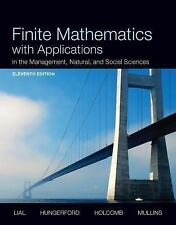 Finite Mathematics with Applications in the Management, Natural, and Social Scie